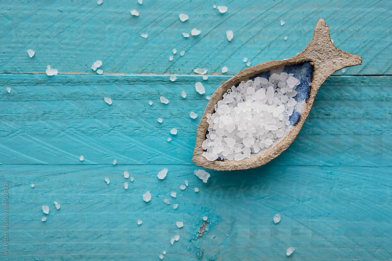 Food: Sea Salt in a little Bowl by Ina Peters for Stocksy United