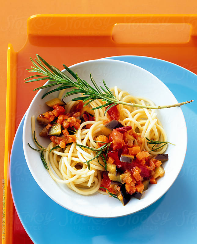 Spaghetti and Ratatouille by J.R. PHOTOGRAPHY for Stocksy United