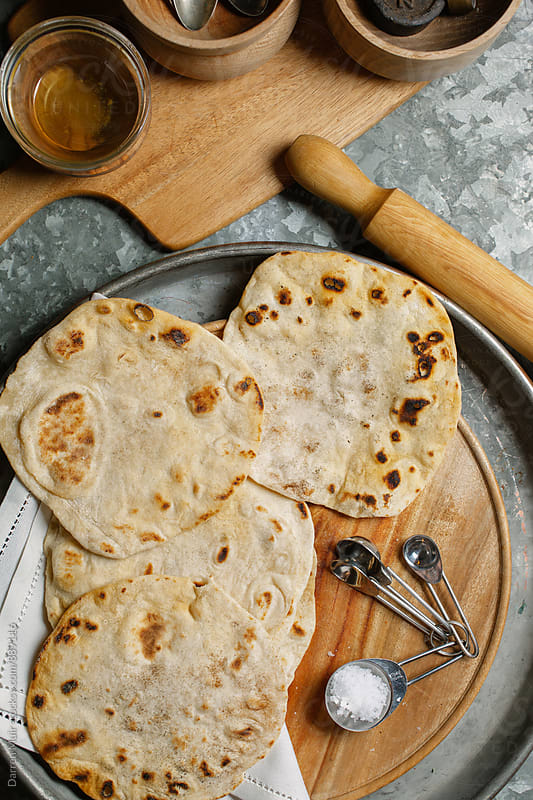 Homemade tortillas. by Darren Muir for Stocksy United