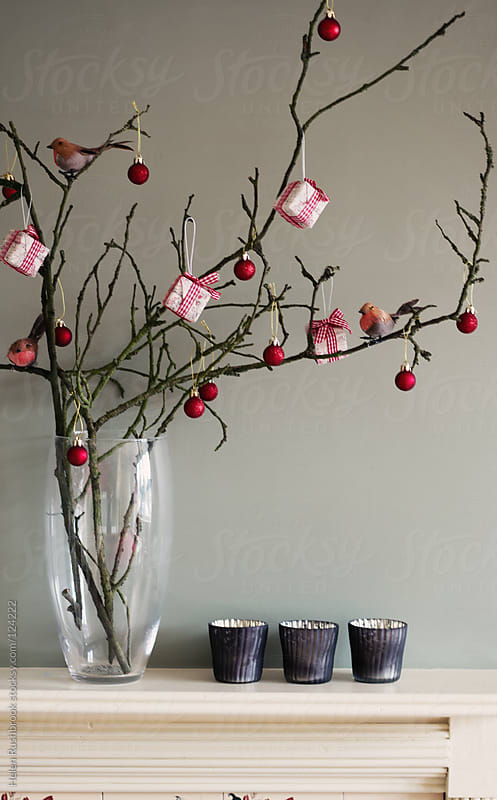A rustic and alternative Christmas tree by Helen Rushbrook for Stocksy United