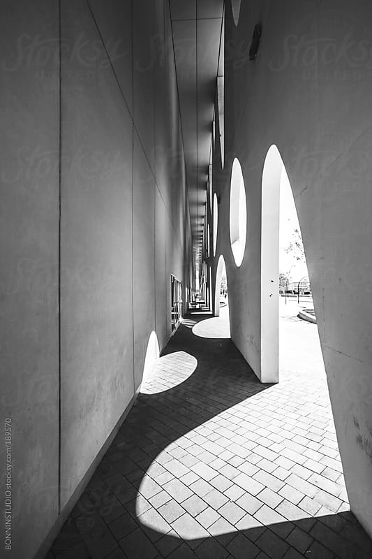 Abstract forms on a urban landscape. Barcelona. by BONNINSTUDIO for Stocksy United