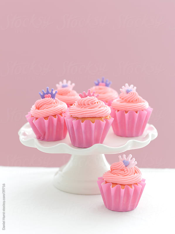 Pink Cupcakes by Daniel Hurst for Stocksy United