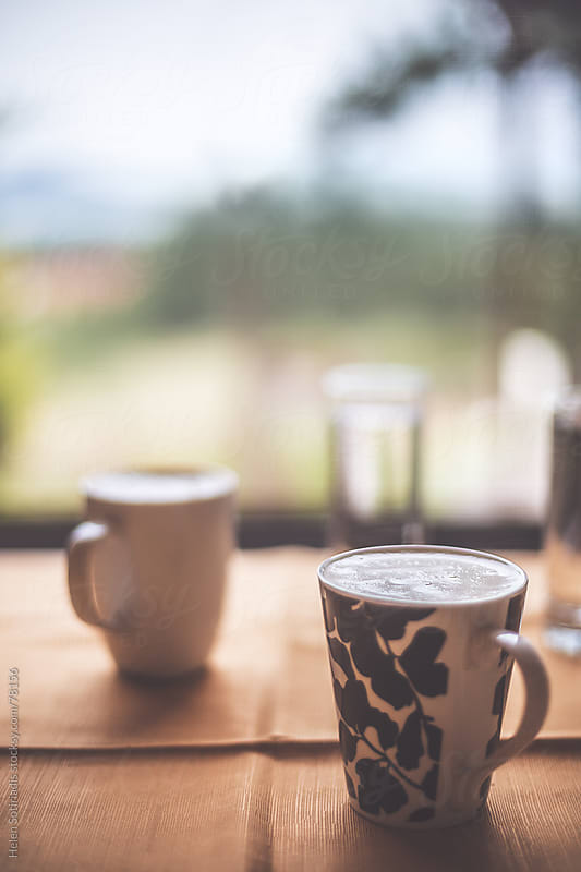 Morning coffee with a view by Helen Sotiriadis for Stocksy United