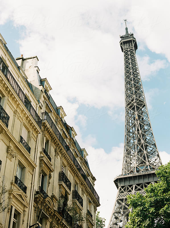 View of Eiffel Tower, Paris by Kirstin Mckee for Stocksy United
