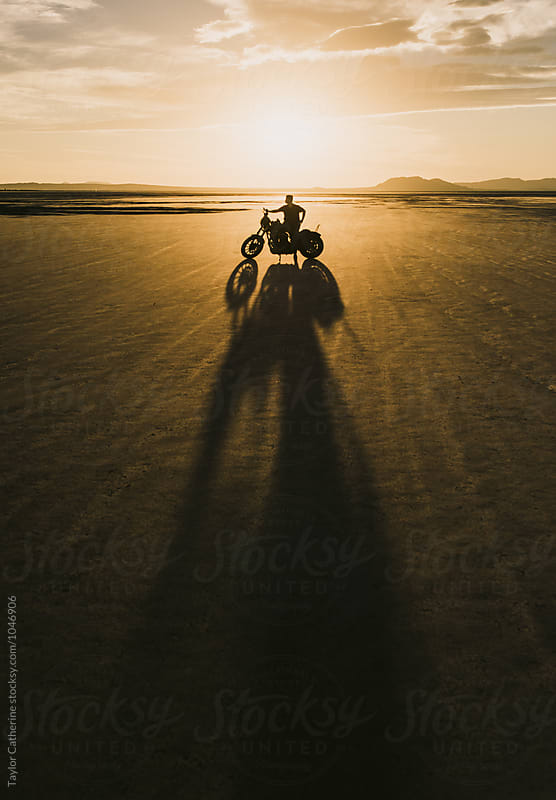 Sunset Motorcycle Silhouette by Isaiah & Taylor Photography for Stocksy United