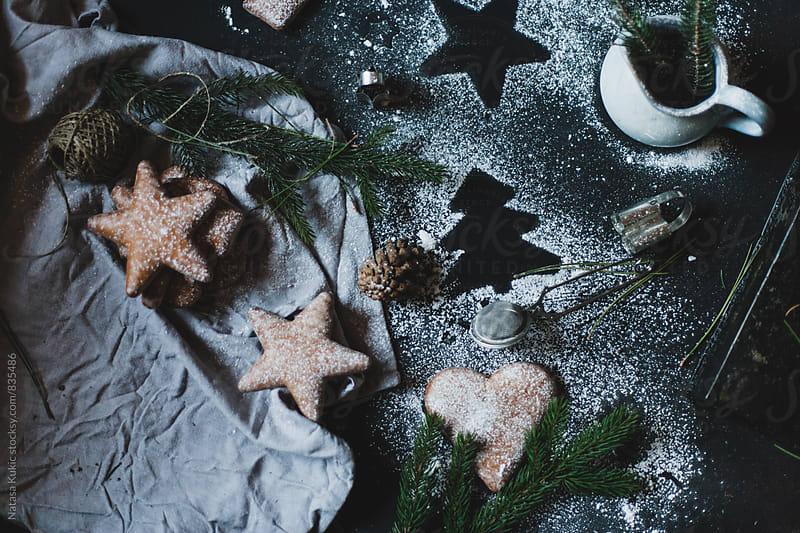 Gingerbread Christmas festive decor  by Natasa Kukic for Stocksy United