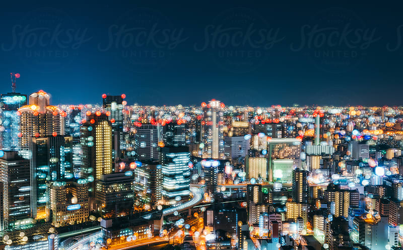 View from Umeda Sky Building in Osaka by Juri Pozzi for Stocksy United