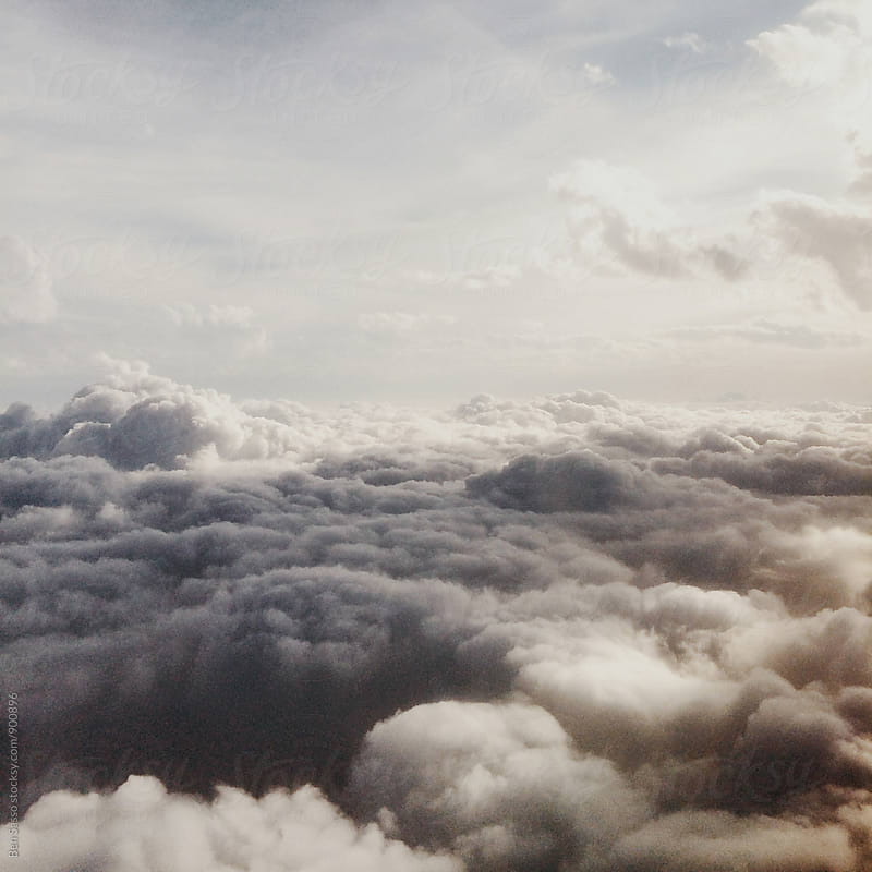 Clouds from above by Ben Sasso for Stocksy United