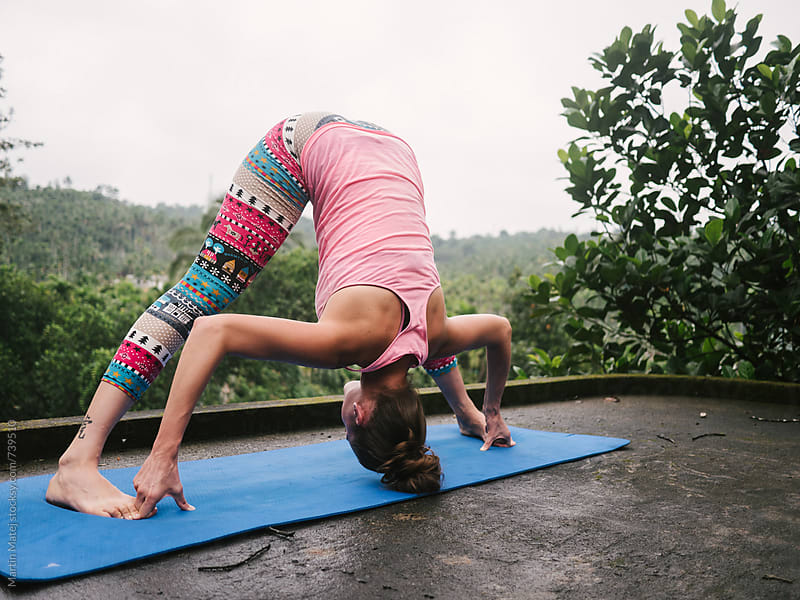 Yoga on the roof by Martin Matej for Stocksy United