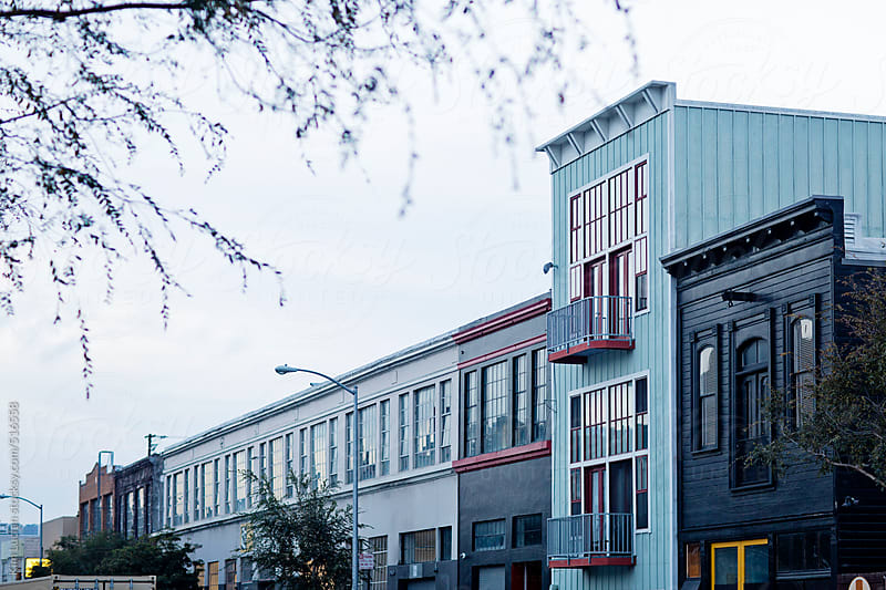 Row of Buildings at Dusk, San Francisco by Kim Lucian for Stocksy United