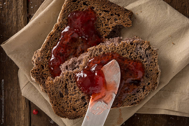 Toast and Strawberry Jam by Jeff Wasserman for Stocksy United