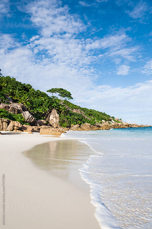 Wonderful beach at Petite Anse, La Digue by michela ravasio for Stocksy United