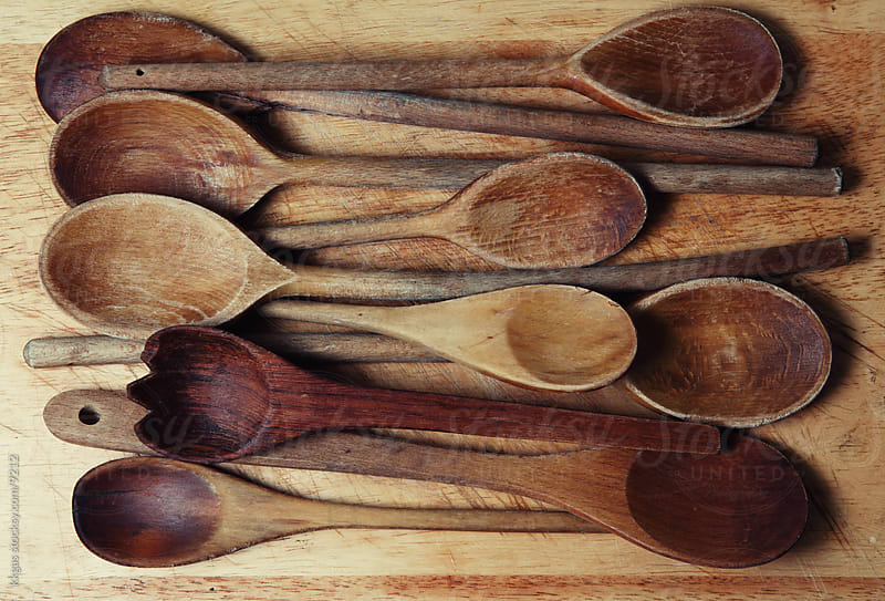 Wooden spoons by kkgas for Stocksy United