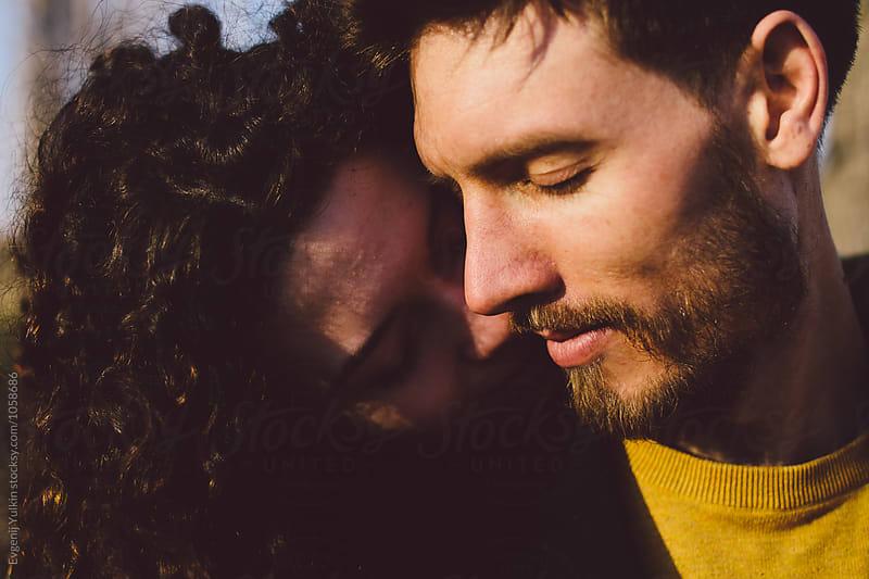 Passionate couple closeup  by Evgenij Yulkin for Stocksy United