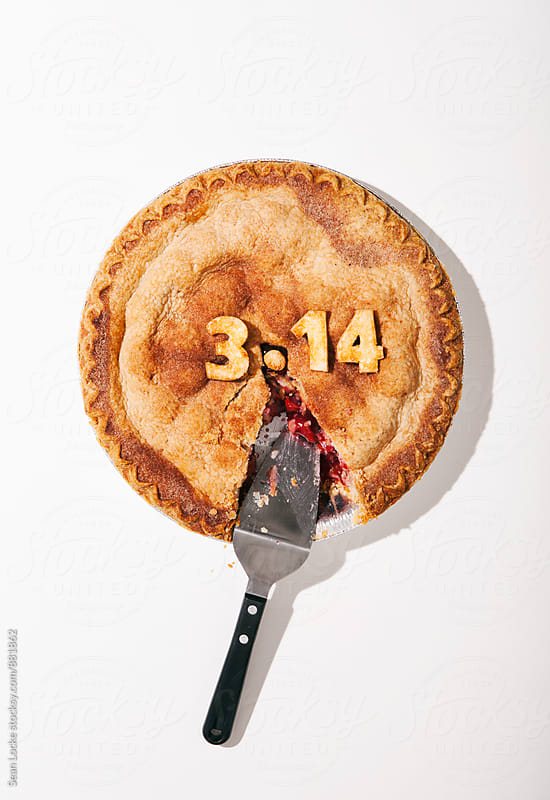 Pi: Cherry Pie For Pi Day With Slice Missing by Sean Locke for Stocksy United