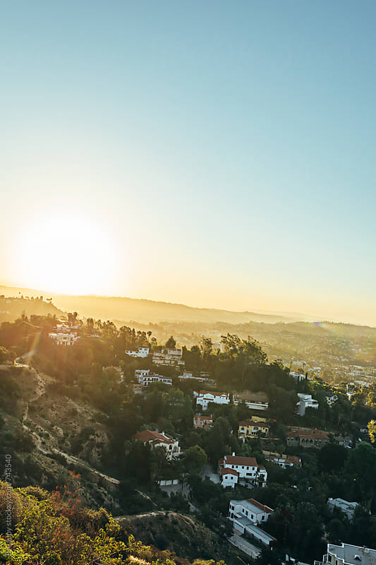 Houses on hills of Hollywood, California. by Preappy for Stocksy United