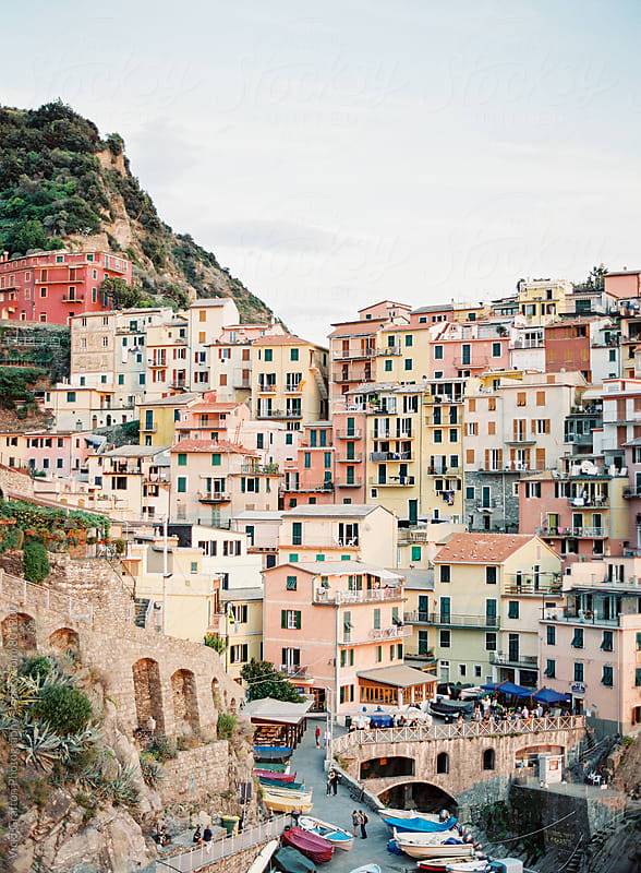 Coastal town in Cinque Terre Italy  by Vicki Grafton Photography for Stocksy United