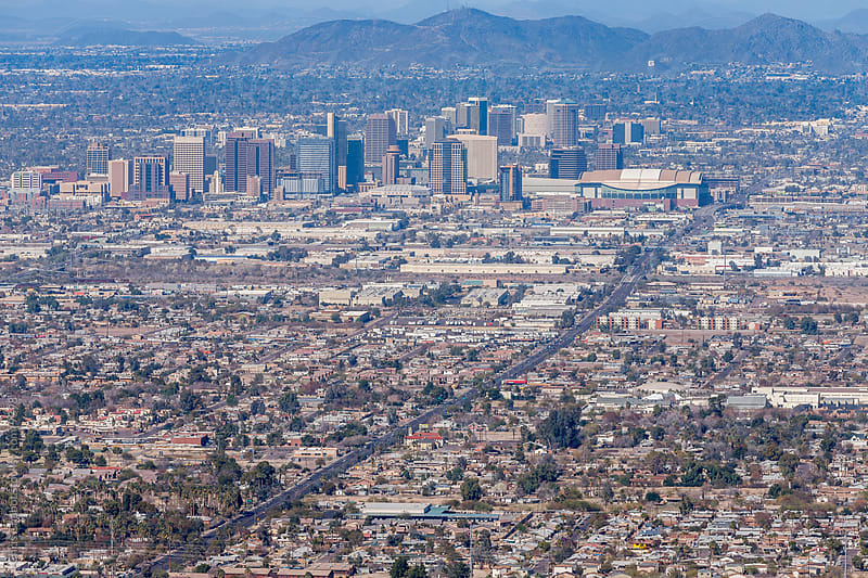 Phoenix skyline by Chris Chabot for Stocksy United