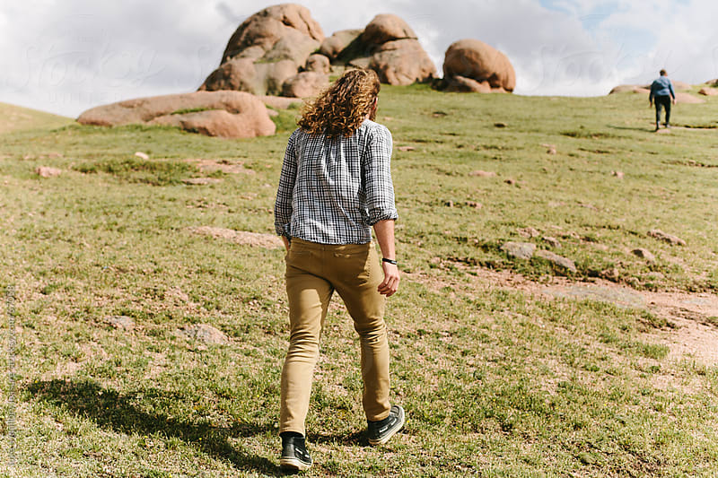 Hiking up the Mountain by luke + mallory leasure for Stocksy United