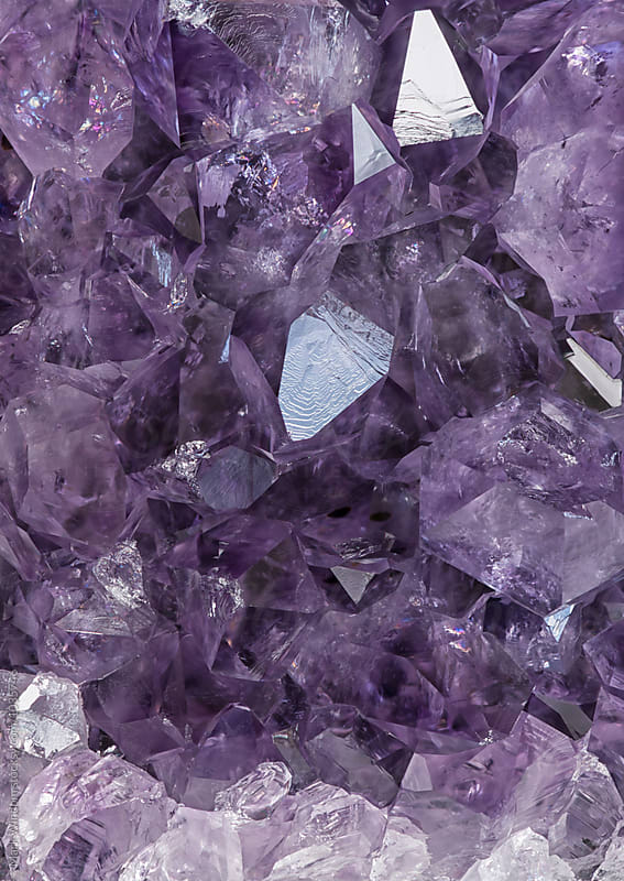 Amethyst macro by Mark Windom for Stocksy United