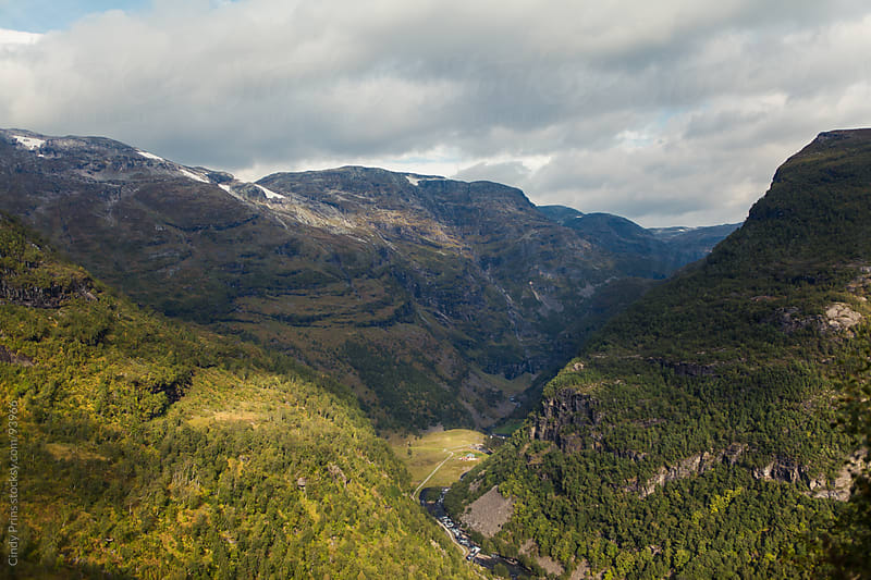 A view over the valley in the fjords of Norway on a summer day by Cindy Prins for Stocksy United
