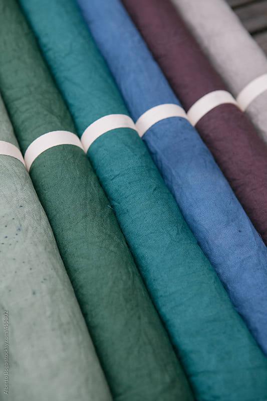 Handmade colored linen by Alberto Bogo for Stocksy United