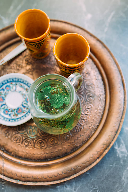 Herbal tea in a carafe by Maja Topcagic for Stocksy United