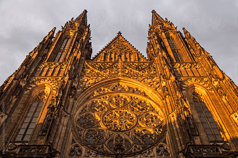 Facade of St. Vitus Cathedral in Prague by Melanie Kintz for Stocksy United