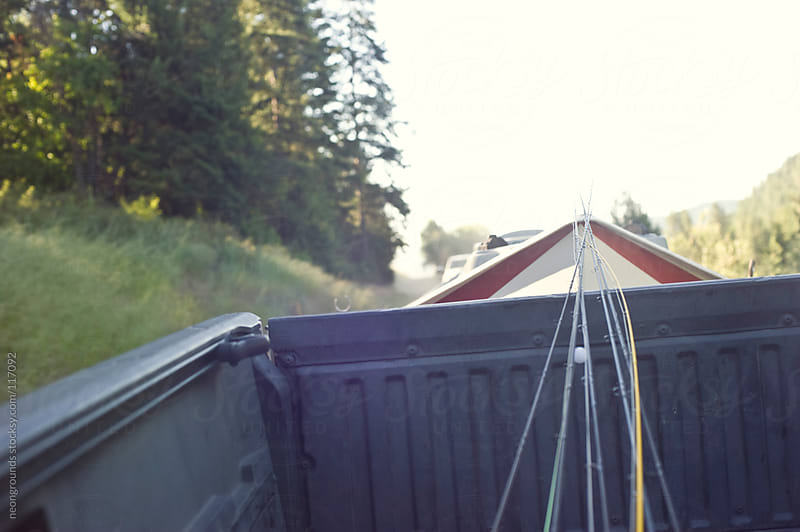 Fly rods in the back of a truck by neongrounds for Stocksy United