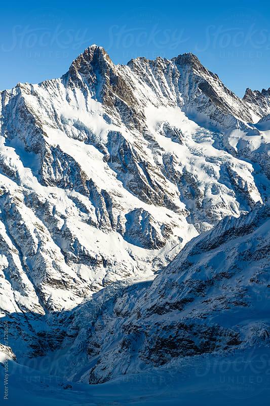 Schreckhorn mountain peak by Peter Wey for Stocksy United