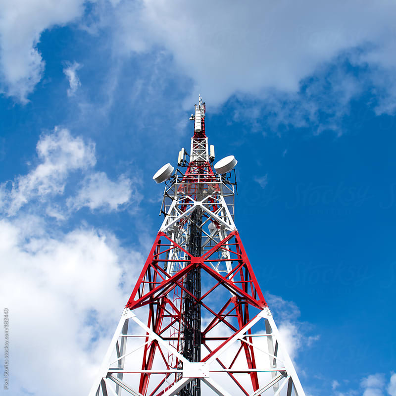 Telecommunication tower by Pixel Stories for Stocksy United