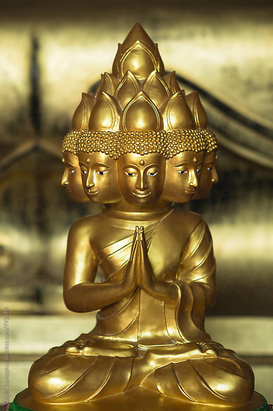 Gold Buddha by Chalit Saphaphak for Stocksy United