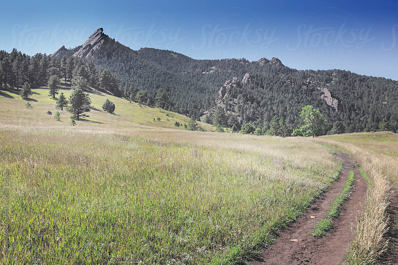 Boulder Flatirons by Nicholas Moore for Stocksy United
