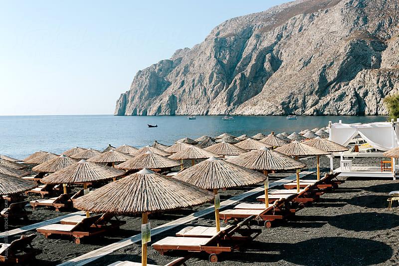Kamari beach, Santorini, Greece by Paul Phillips for Stocksy United