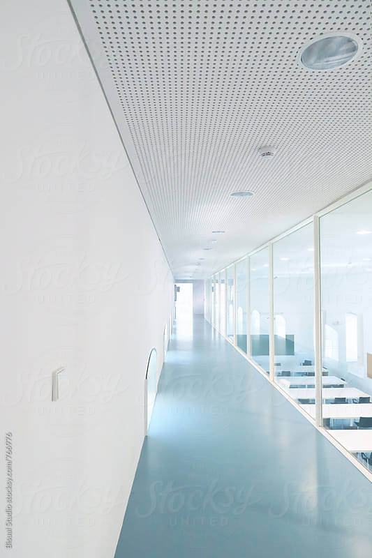 Empty corridor by Bisual Studio for Stocksy United