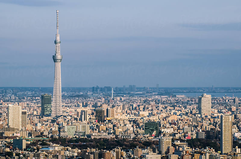 Tokyo With The Skytree by Leslie Taylor for Stocksy United