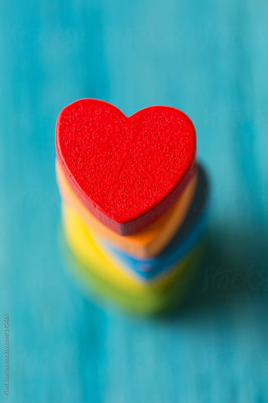 Red wooden heart by Pixel Stories for Stocksy United