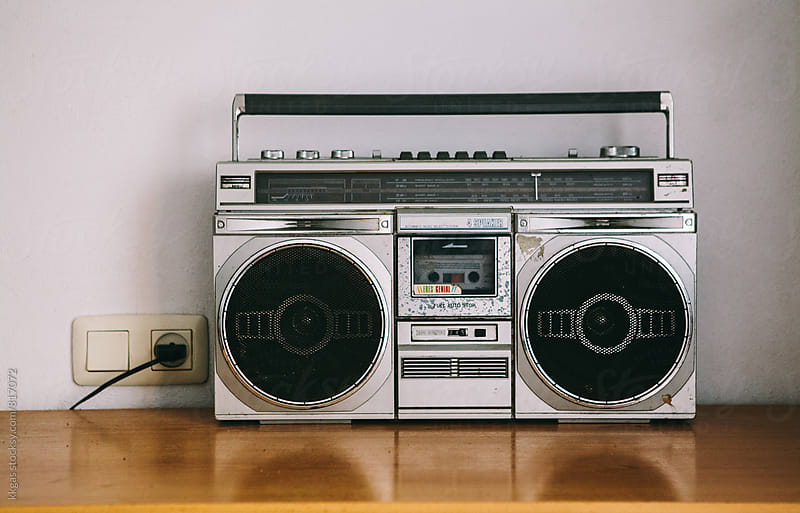 1980's ghetto blaster or portable stereo. by kkgas for Stocksy United
