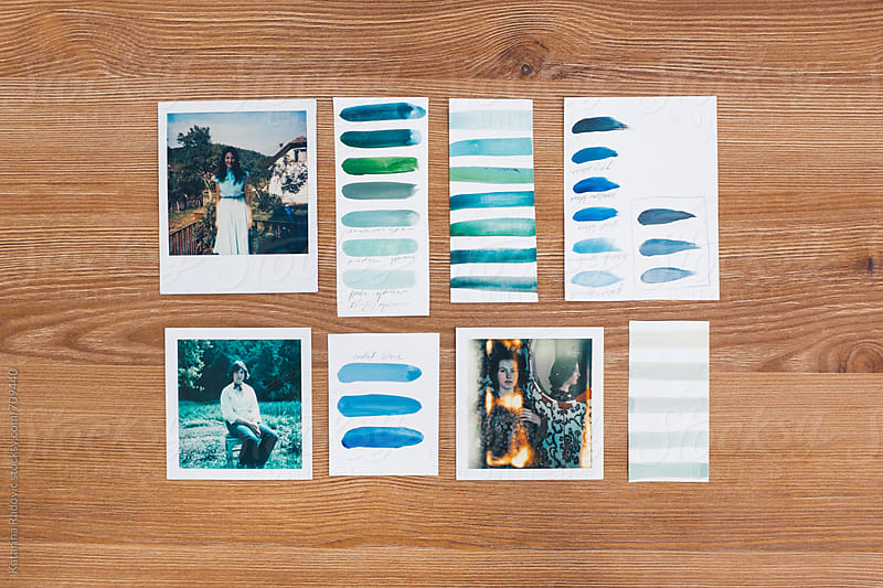 Vintage Polaroids And Colour Palette by Katarina Radovic for Stocksy United