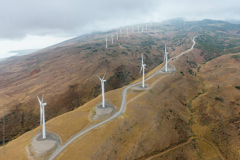 Wind Farm in Maui, Hawaii by Jen Grantham for Stocksy United