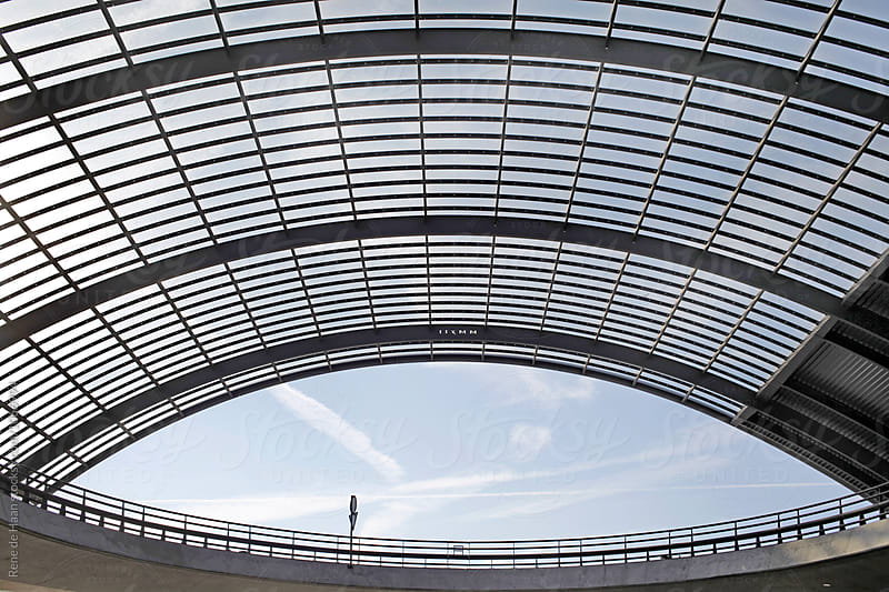 roof over busstation by Rene de Haan for Stocksy United