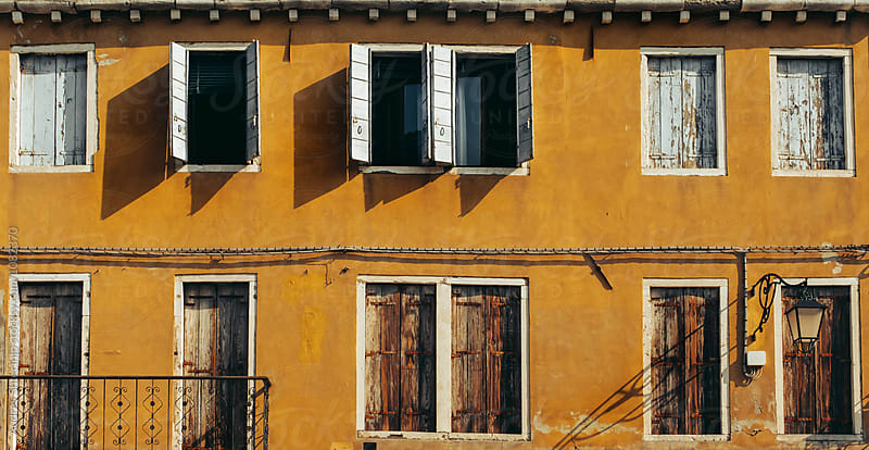 Typically/classic mediterranean rustic house facade. by Marko Milanovic for Stocksy United