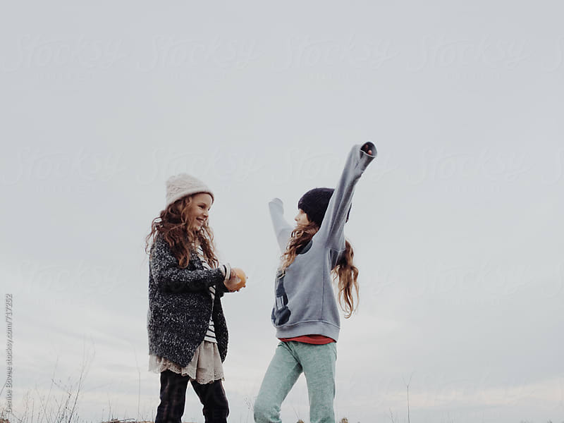 Happy Sisters Outdoors by Denise Bovee for Stocksy United