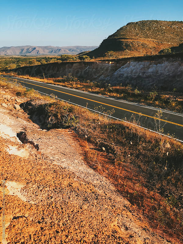 Road Through Brazilian National Park (Chapada dos Veadeiros) by VISUALSPECTRUM for Stocksy United