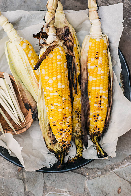 Grilled Corn On The Cob by Cameron Whitman for Stocksy United