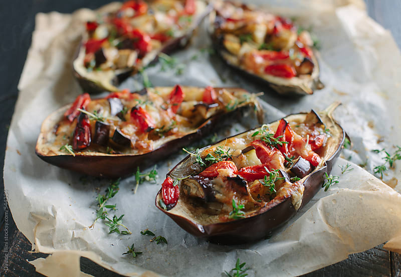 Stuffed Eggplant by Davide Illini for Stocksy United
