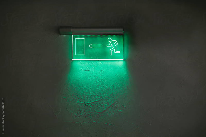 Exit Sign by Lumina for Stocksy United