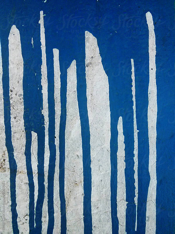 Dried Blue Paint Spillage by Eldad Carin for Stocksy United
