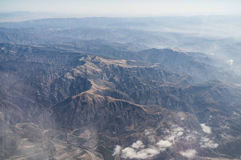 Aerial view of the mountains by Song Heming for Stocksy United