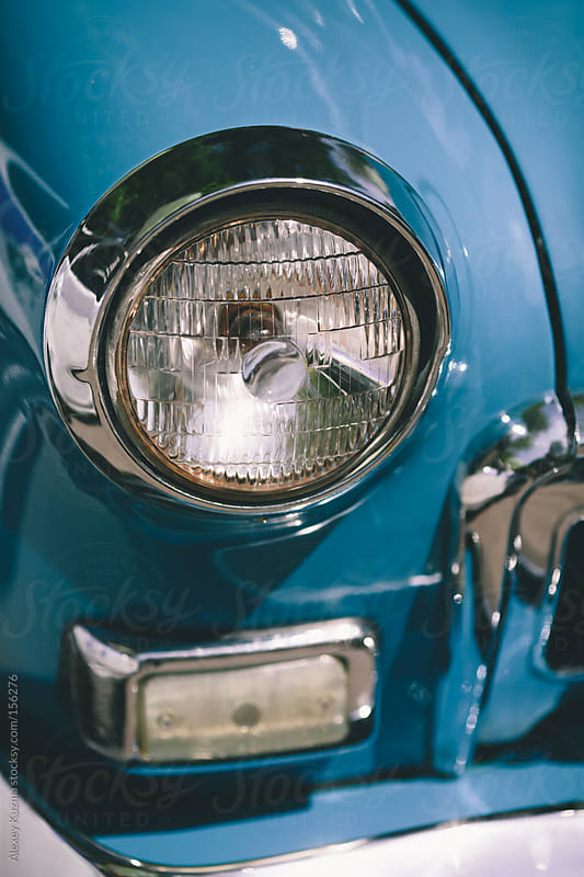 closeup of classic luxury car by Alexey Kuzma for Stocksy United